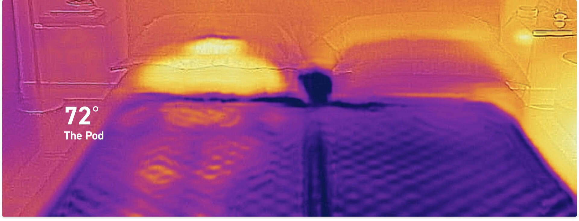thermal image showing active cooling technology on Eight Sleep Pod Pro