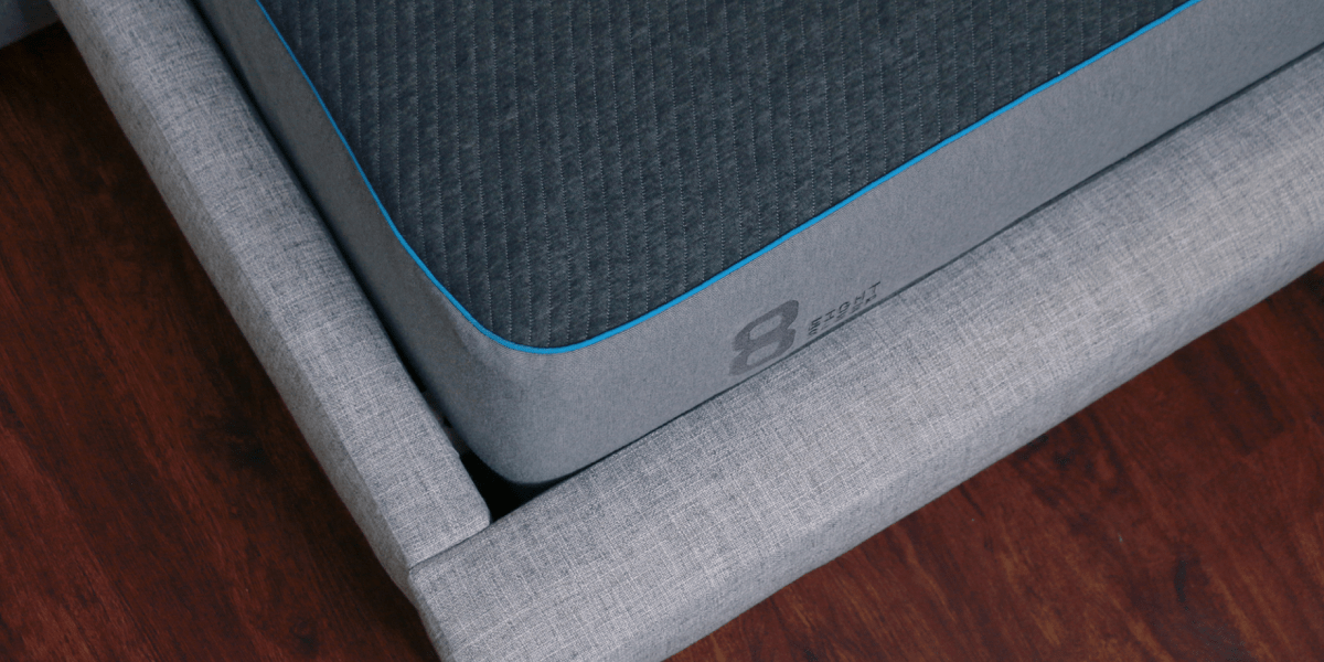 Overhead Corner Picture of Eight Sleep Dynamic Cooling Smart Mattress