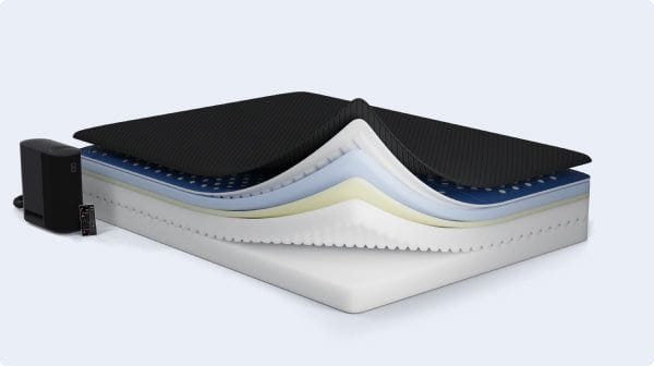 The Pod Pro mattress expanded view of the layers