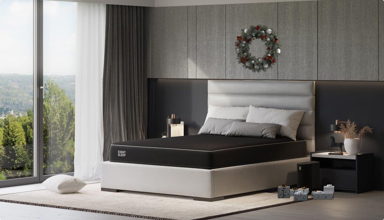 Eight Sleep Pod Pro in modern bedroom - side view
