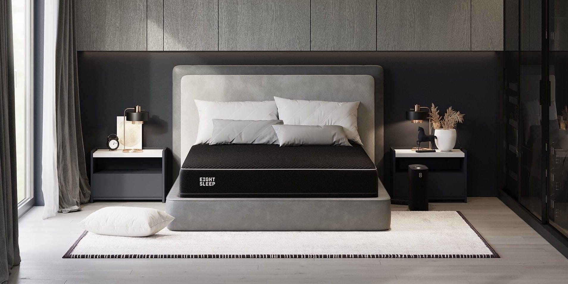 Eight Sleep Pod Pro in modern bedroom - crop